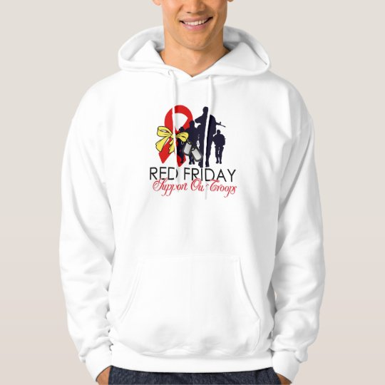 Red Friday - Support Our Troops Hoodie