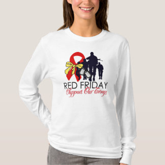 Red friday gifts on zazzle for Red support our troops shirts