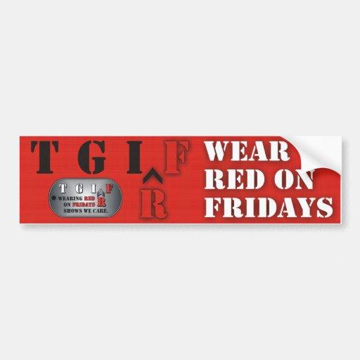 Red Fridays Bumper Sticker
