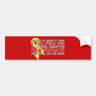 Red Fridays Bumper Stickers