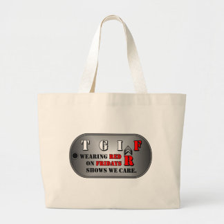 Red Fridays Jumbo Canvas Tote bag