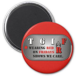 Red Fridays Magnet