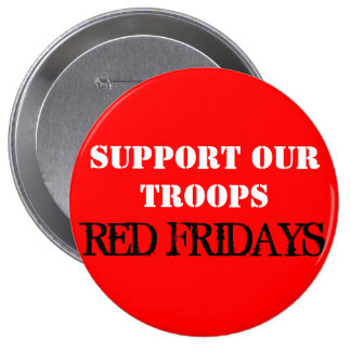 Red Fridays Pinback Button