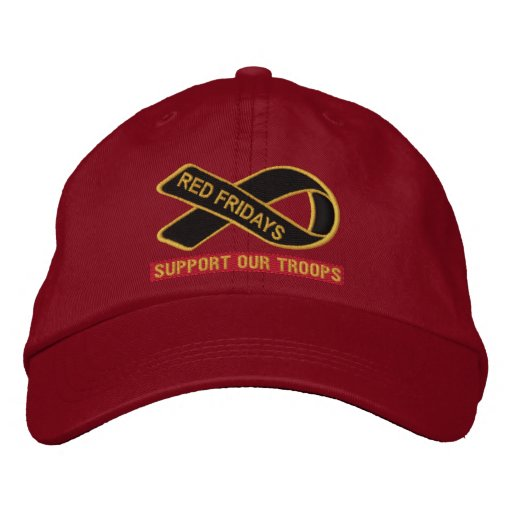 Red Fridays Support Our Troops Embroidered Hat