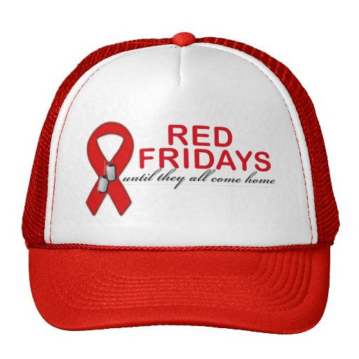 Red Fridays- Until They All Come Home Trucker Hat