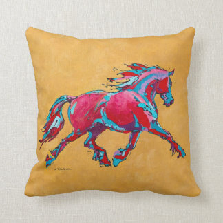 Red Friesian Throw Pillow