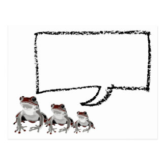 Red frog post card