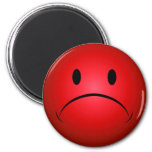 Red Frownie Face Magnet