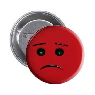 Red Frowny Face Button
