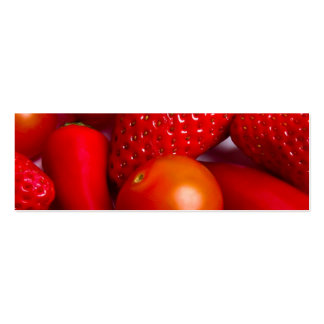 Red Fruit and Vegetables Bookmark/Business Cards