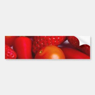 Red Fruit and Vegetables Bumper Sticker Car Bumper Sticker