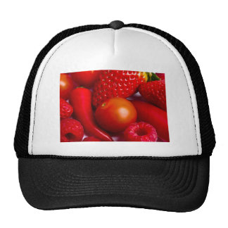 Red Fruit and Vegetables Hat/Cap