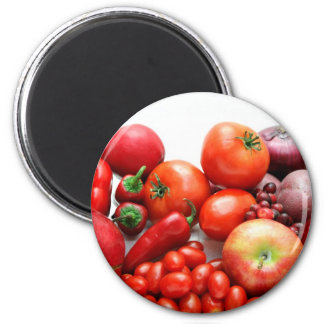 Red Fruit And Vegetables Magnet