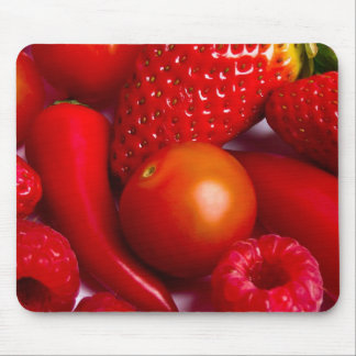 Red Fruit and Vegetables Mousepad