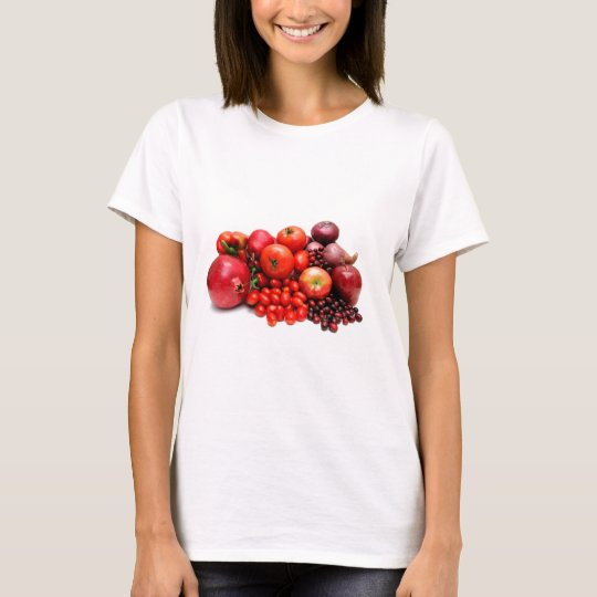 Red Fruit And Vegetables T-Shirt