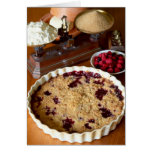 Red fruit crumble For use in USA only.) Greeting Card