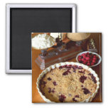 Red fruit crumble For use in USA only.) 2 Inch Square Magnet