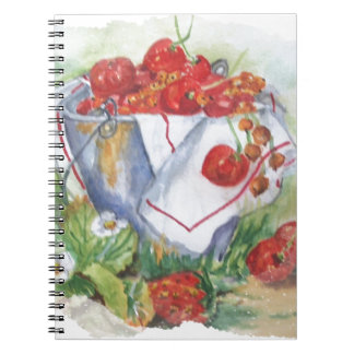 RED FRUIT NOTEBOOKS