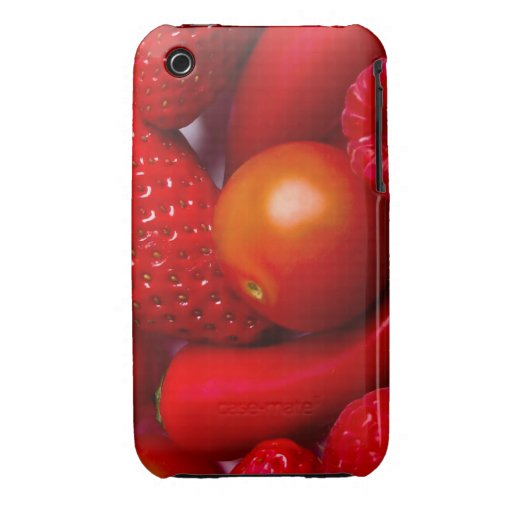 Red Fruit/Vegetables iPhone 3/3GS Case Mate Case-Mate iPhone 3 Cases