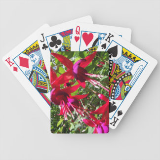 Red Fuchsia Bicycle Playing Cards