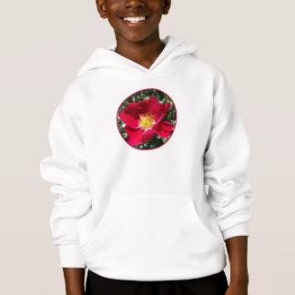 Red / Fuchsia rose Hoodie