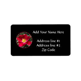 Red / Fuchsia rose Label