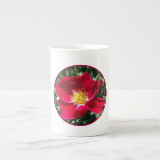Red / Fuchsia rose Tea Cup