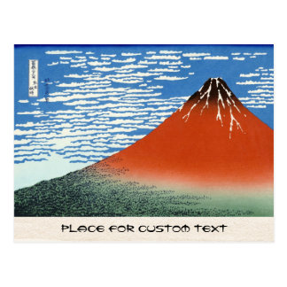 Red Fuji southern wind clear morning Postcard