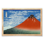 Red Fuji southern wind clear morning Posters