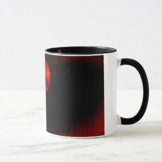 Red Full Moon Night Mugs