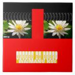 Red Fun Trivet-Waterlily Tiles