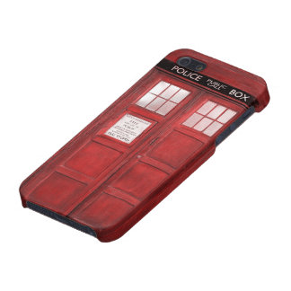 Red Funny Booth Call Box Cover For iPhone SE/5/5s