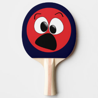 Red Funny Face Ping Pong Paddle