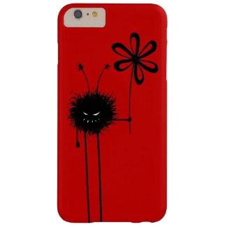 Red Funny Gothic Evil Flower Bug