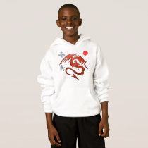 RED FUNNY MYSTICAL ANIMAL HOODIE