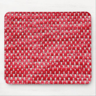 Red fur and white strings mouse pad