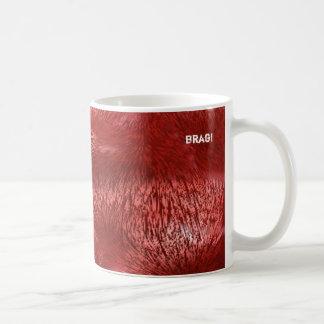 red fur classic white coffee mug