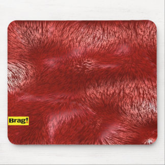 red fur mouse pad
