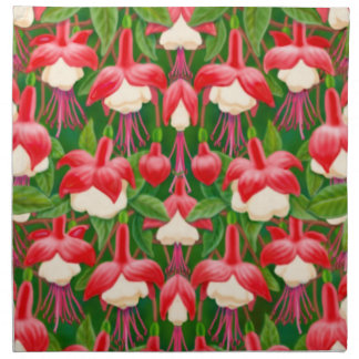 Red Fuschia Floral Napkin