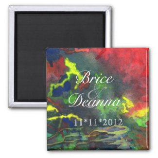 Red Fusion 2 Save The Date Magnets