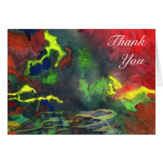 Red Fusion 2 Thank You Card