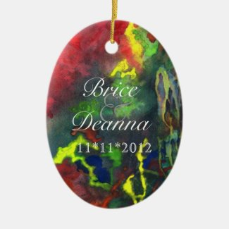 Red Fusion 2 Wedding Favor Ornament