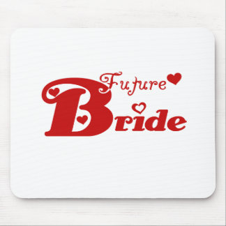 Red Future Bride Mouse Pad