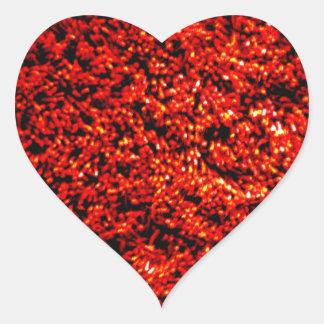 Red Fuzz Heart Sticker