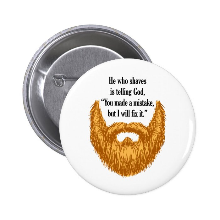 red fuzzy beard button