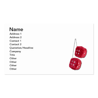Red Fuzzy Dice Business Card