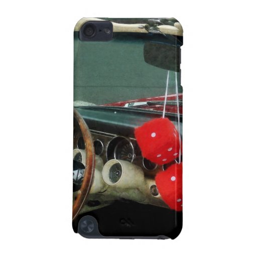 Red Fuzzy Dice in Converible iPod Touch 5G Cover