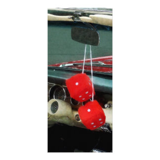 Red Fuzzy Dice in Converible Full Color Rack Card