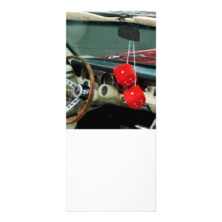 Red Fuzzy Dice in Convertible Custom Rack Card
