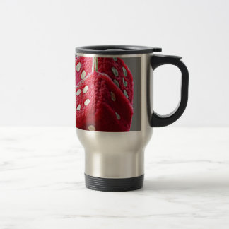 Red Fuzzy Dice Travel Mug